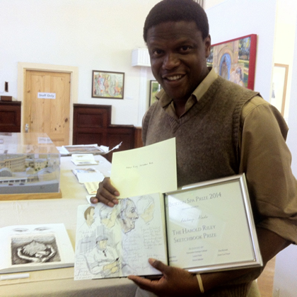 Adebanji Alade. The Harold Riley Sketchbook Prize 2014 Winner